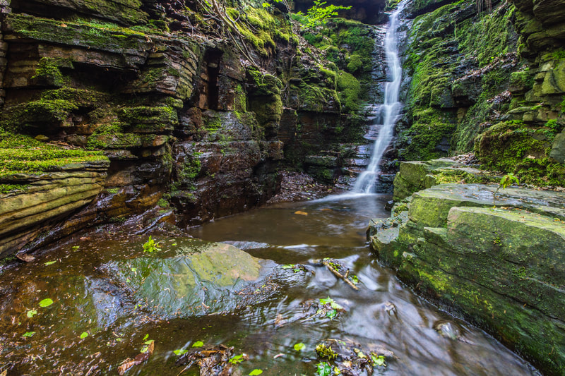 Tigers Clough Crooked Edge Waterfall, Rinvington, Lancashire #1, North West England
