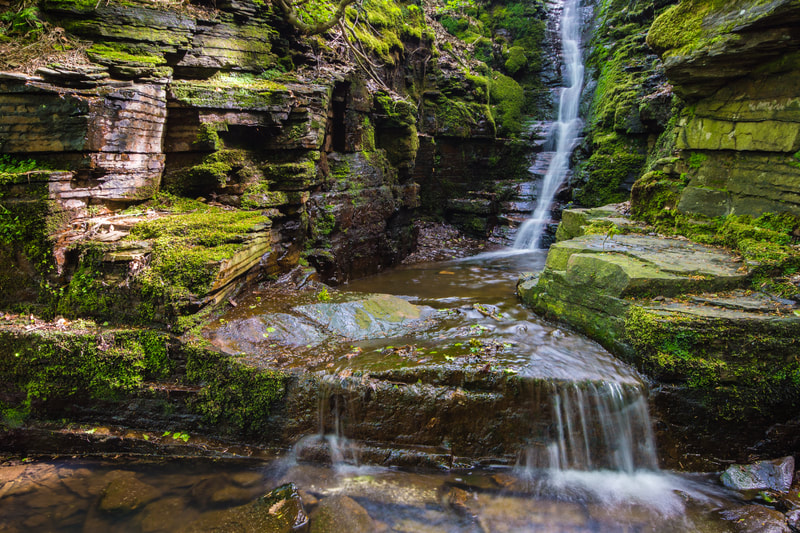 Tigers Clough Crooked Edge Waterfall #2, Rinvington, Lancashire, North West England