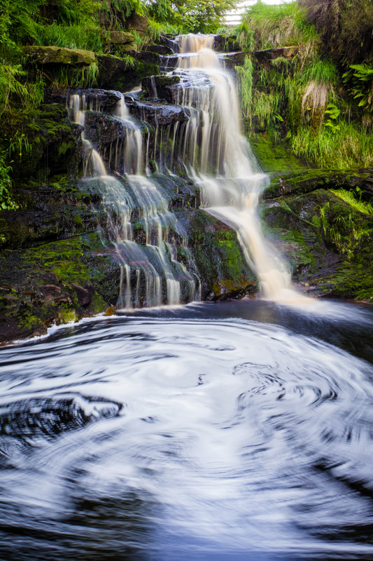 Lead Mines Clough Top Waterfall, Anglezarke, Chorley, Lancashire, North West England