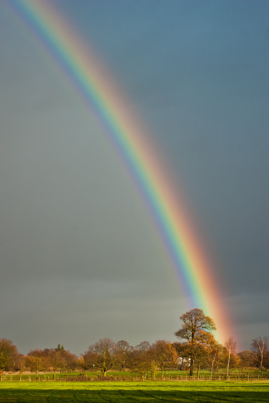 Rainbow at Dunham Massey, Greater Manchester, North West England